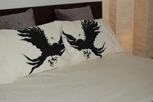 "Duvet Cover Eagle Design, 100% Organic Cotton, Cotton Sateen or Bamboo Fabric, luxury and ""Smooth Tech"" softness, soft bedding means great sleep and a great sleep, is priceless. Duvet Cover & Duvet Sets, Bamboo Duvet Cover Bamboo, Duvet Cover Cotton Sateen Duvet Cover, Duvet Cover Eco, Duvet Cover Organic, Modern Duvet Cover"