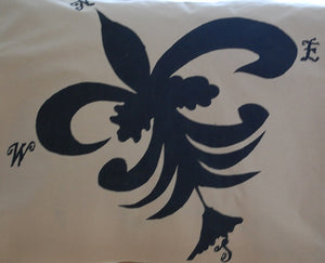 "Pillow Sham Fleur de Lis Design, 100% Organic Cotton or Bamboo Fabric, luxury and ""Smooth Tech"" softness, soft bedding means great sleep and a great sleep, is priceless."