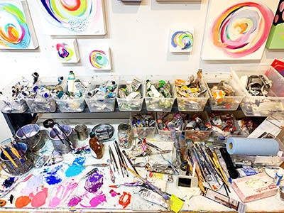 Suze Ford Studio paint palette