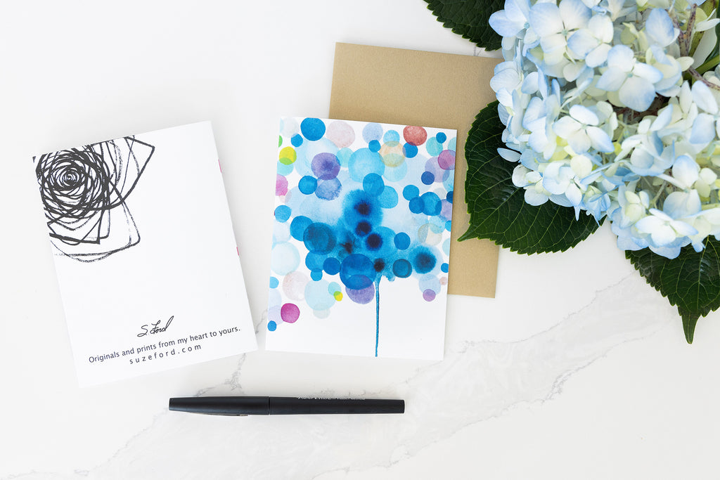 Hydrangea, Stationary Card