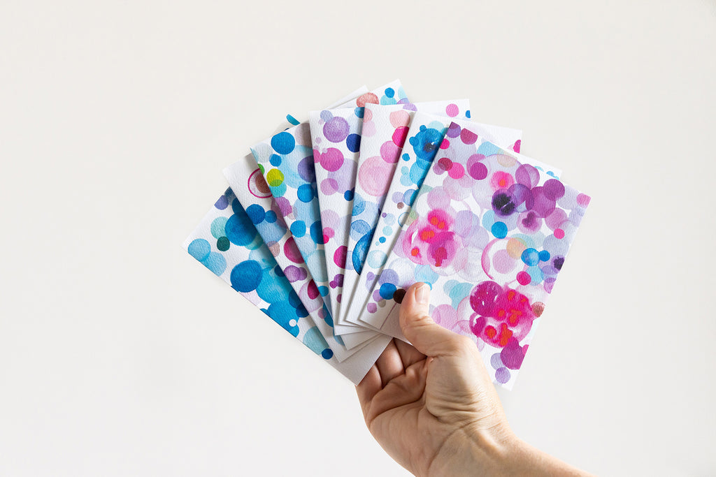 Watercolor Painting Stationary Card Pack