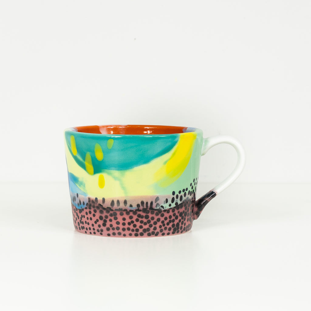 #19 12 oz Hand Painted Ceramic Mug
