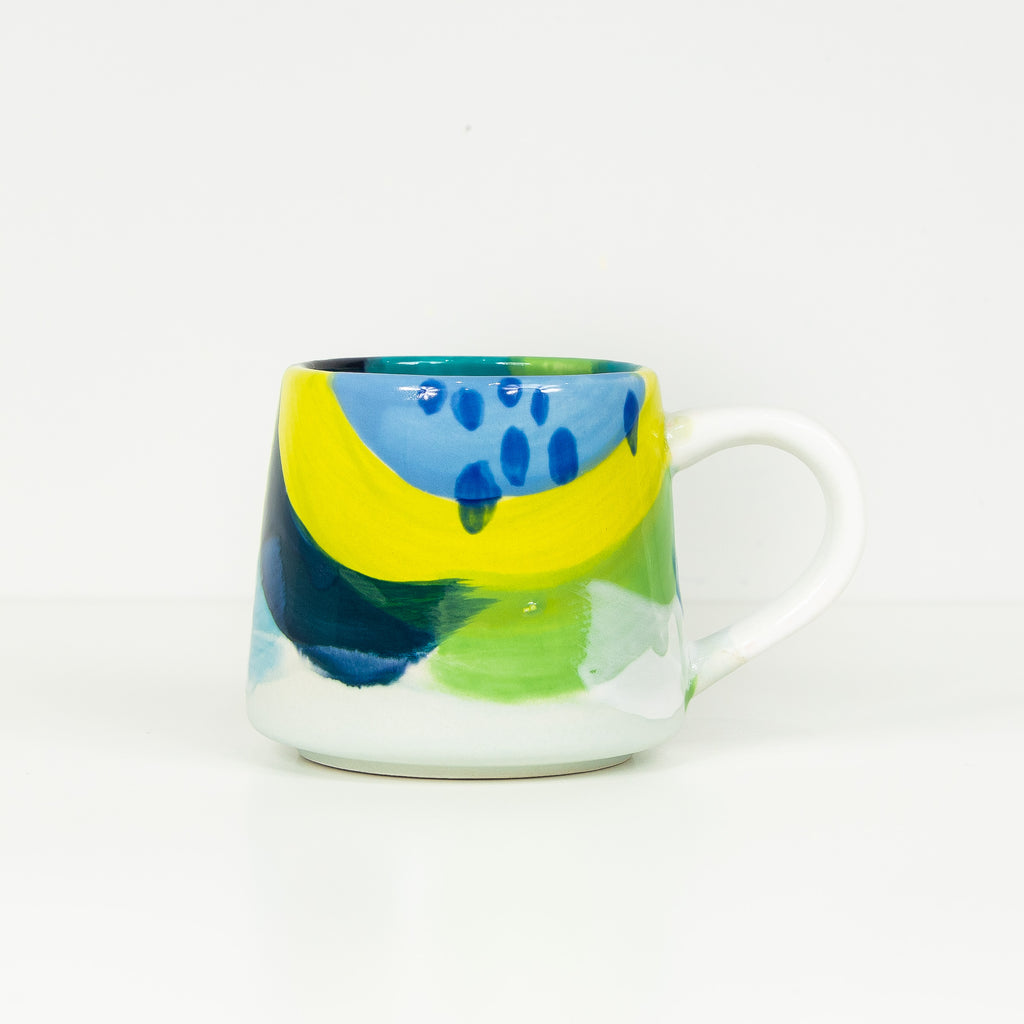 #25 16 oz Hand Painted Ceramic Mug