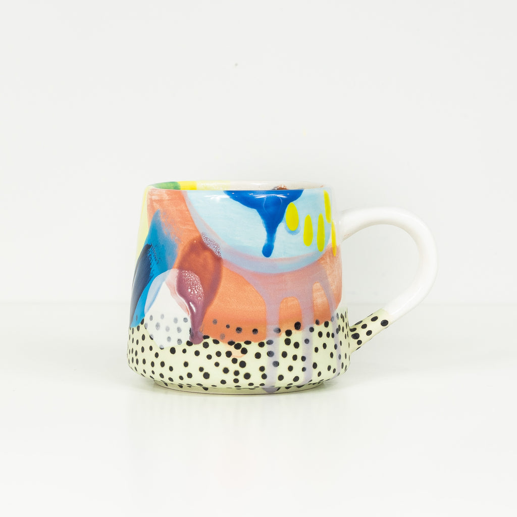 #27 16 oz Hand Painted Ceramic Mug