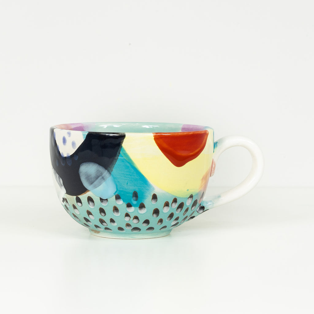 #32 20 oz Hand Painted Ceramic Mug