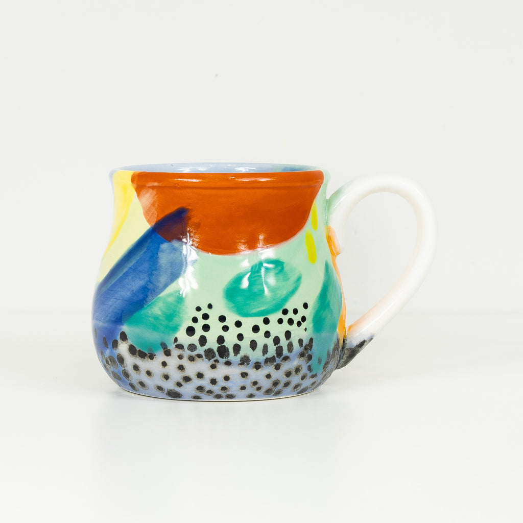 #43 22 oz Hand Painted Ceramic Mug