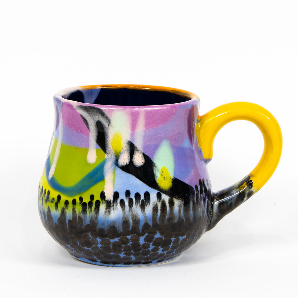 #6 12 oz Hand Painted Ceramic Mug