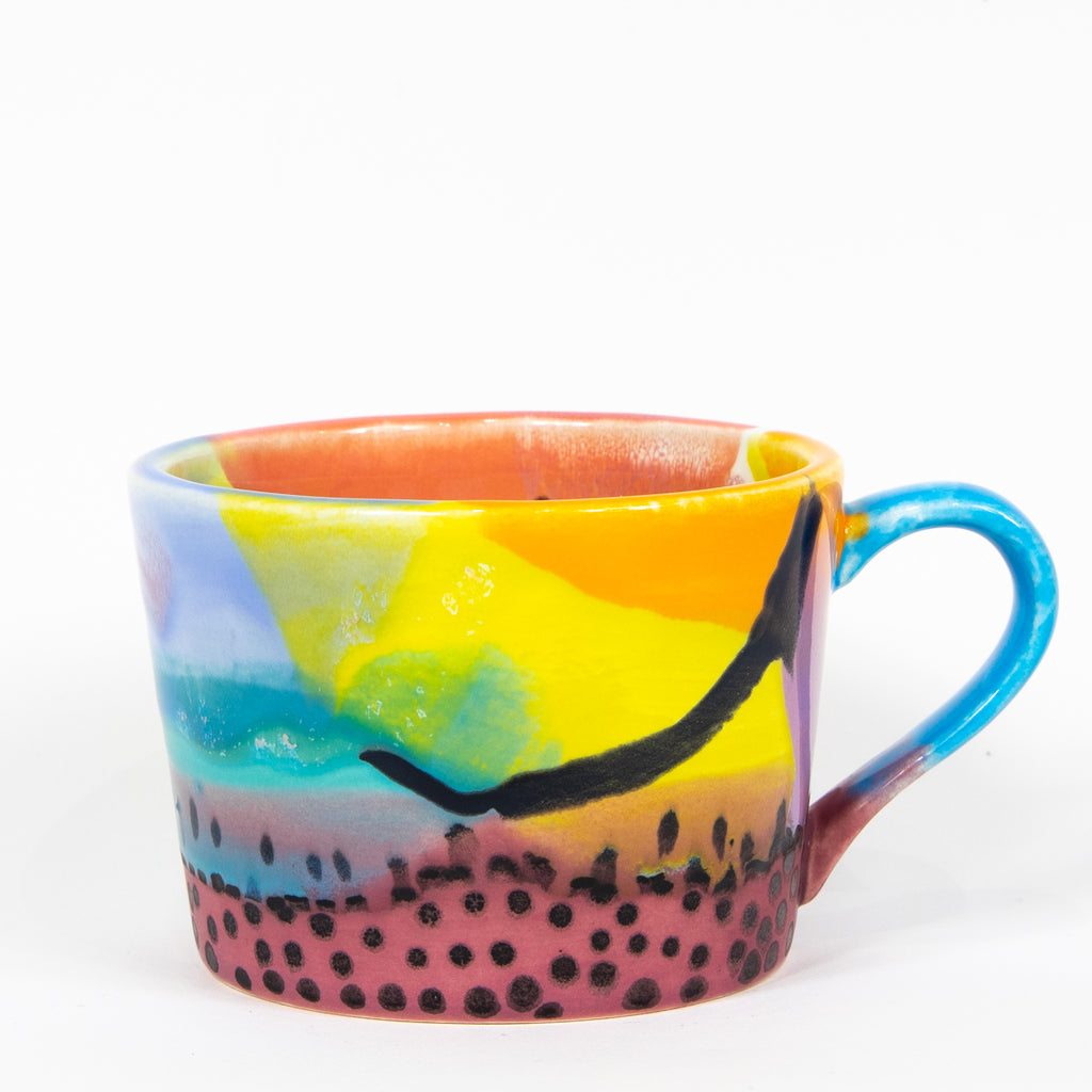 #42 12 oz Hand Painted Ceramic Mug