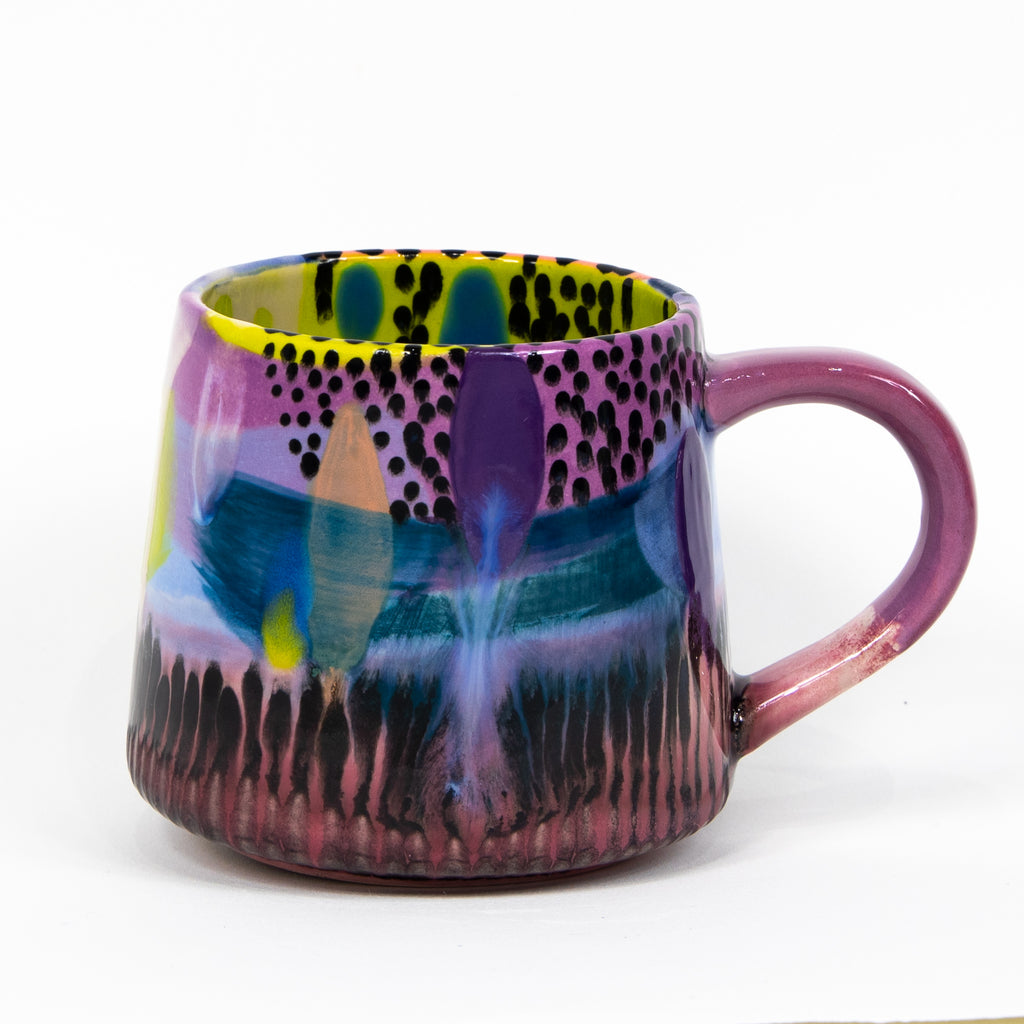 #47 16 oz Hand Painted Ceramic Mug