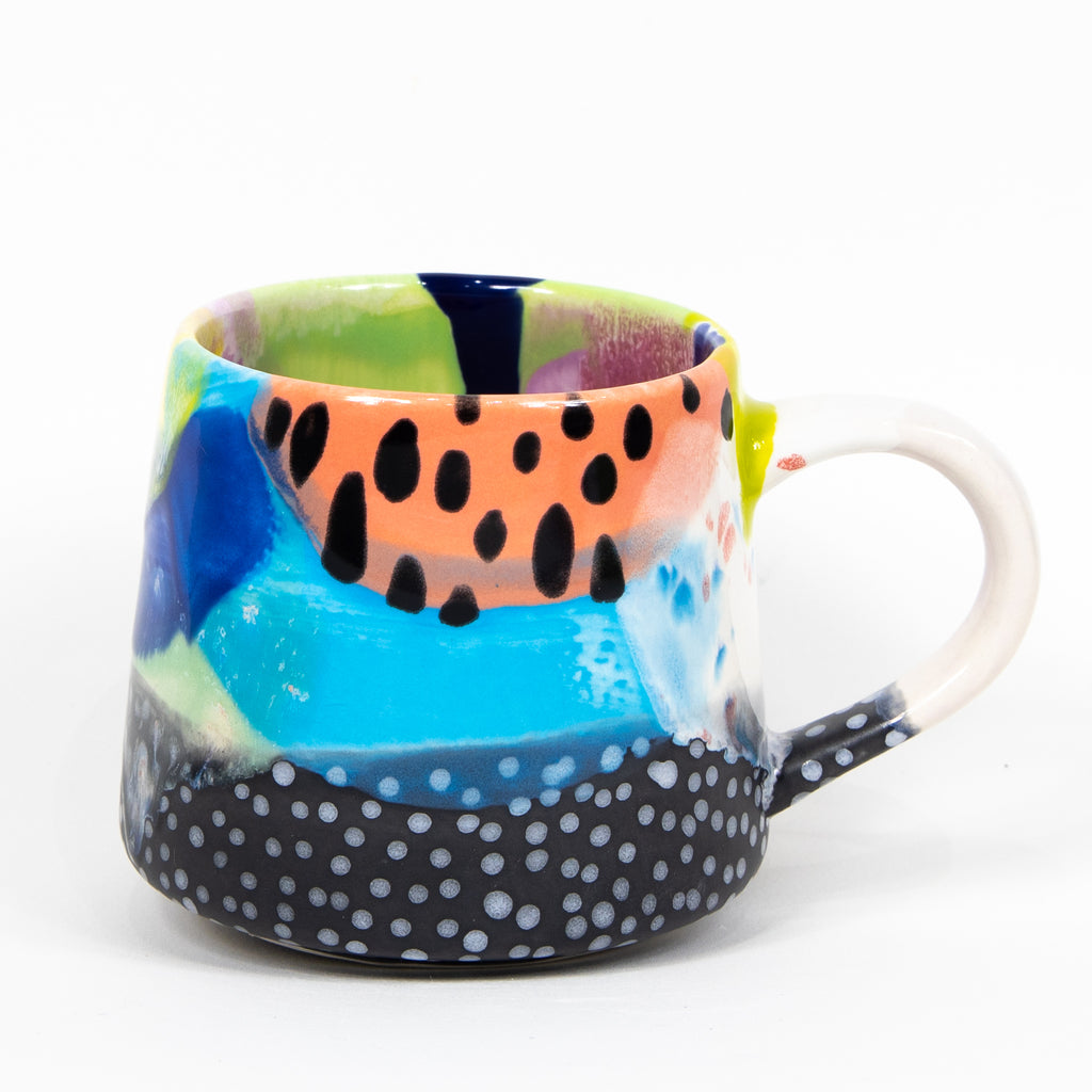 #51 16 oz Hand Painted Ceramic Mug