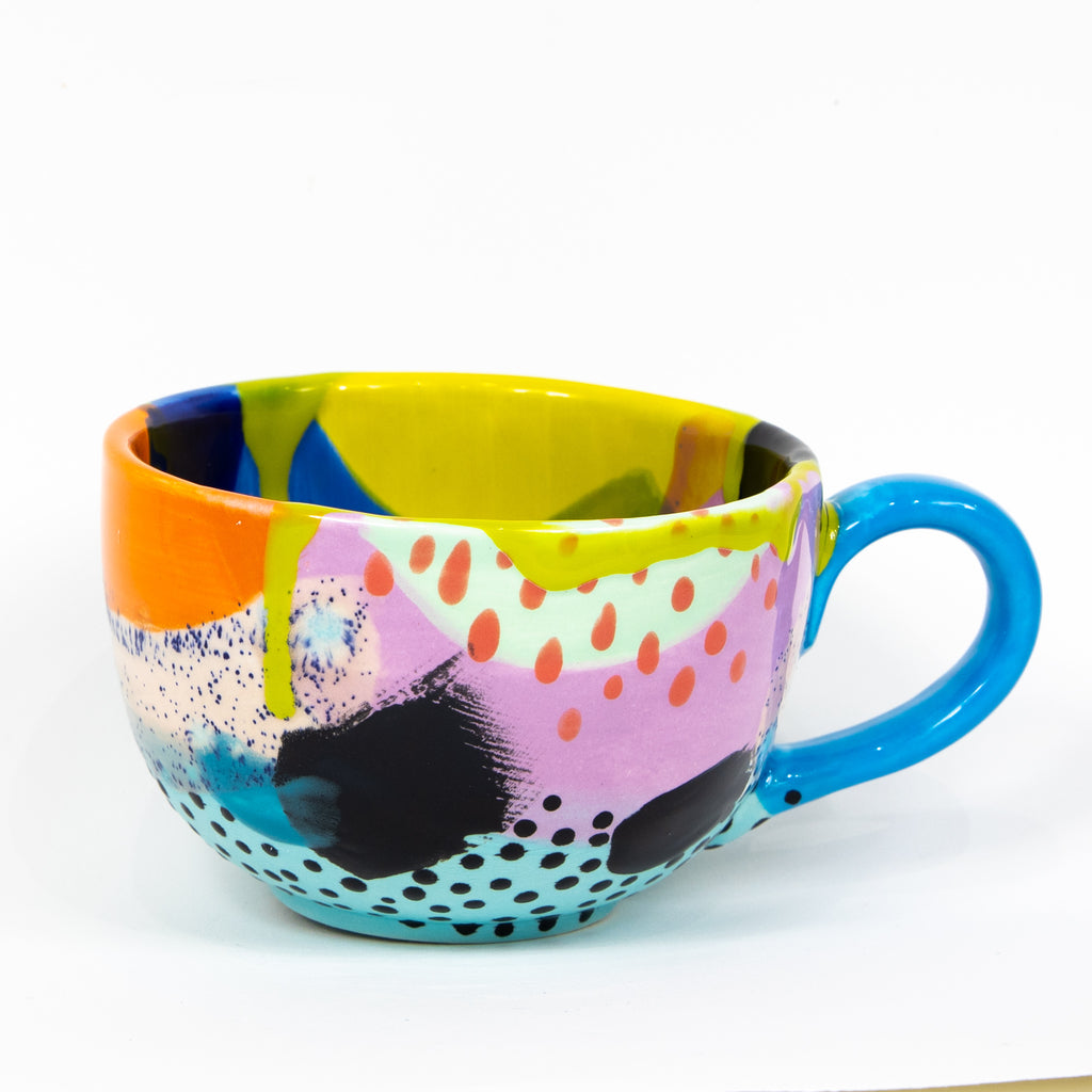 #89 20 oz Hand Painted Ceramic Mug