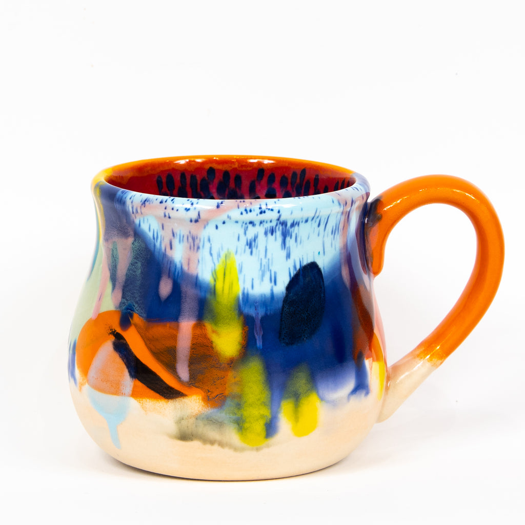 #91 22 oz Hand Painted Ceramic Mug