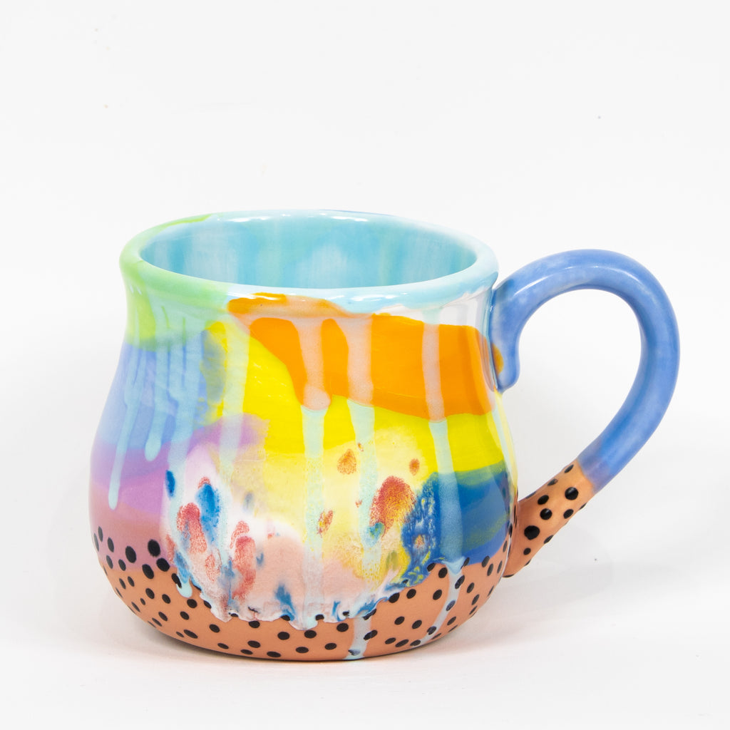 #99 22 oz Hand Painted Ceramic Mug
