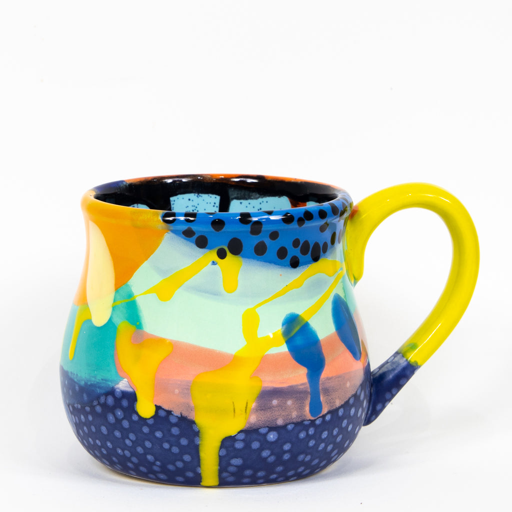 #112 22 oz Hand Painted Ceramic Mug