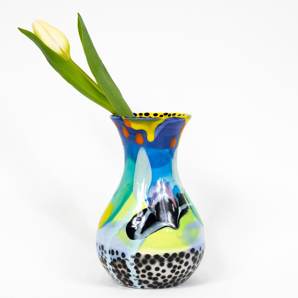#2  Hand Painted Ceramic Bud Vase
