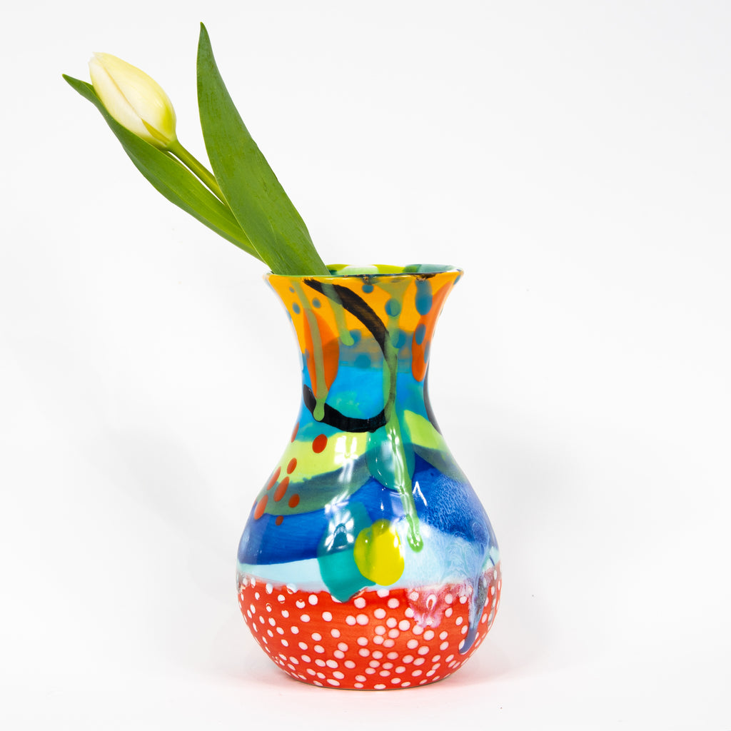 #1 Hand Painted Ceramic Bud Vase