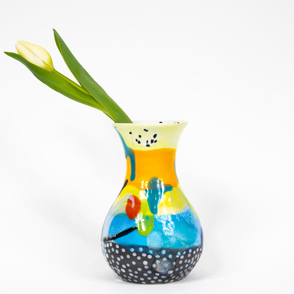 #3  Hand Painted Ceramic Bud Vase