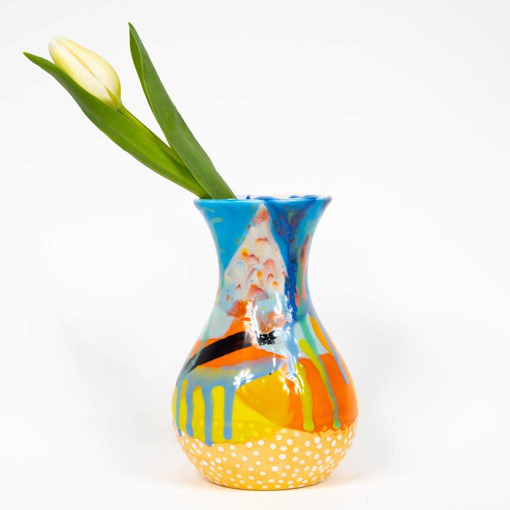 #5 Hand Painted Ceramic Bud Vase