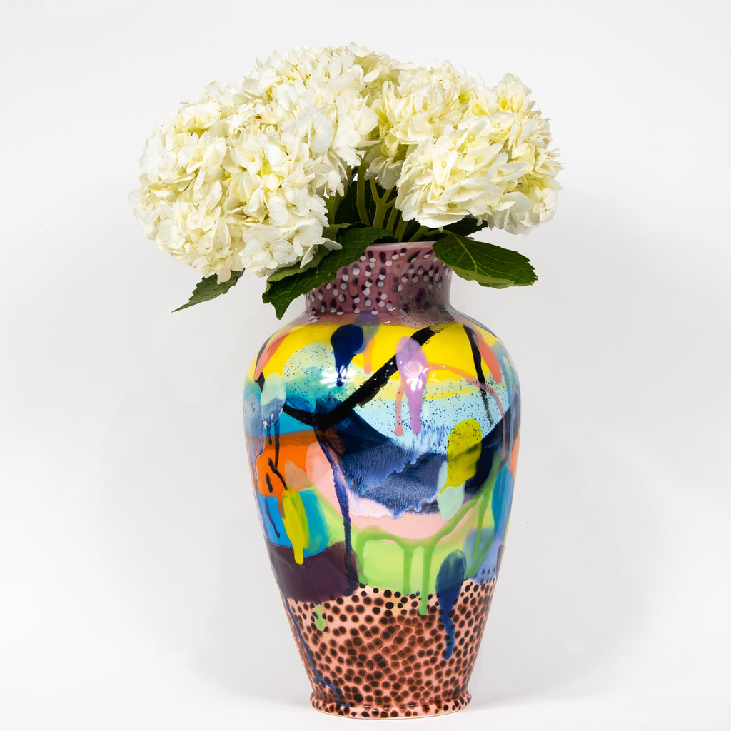 #12 Hand Painted Ceramic Vase