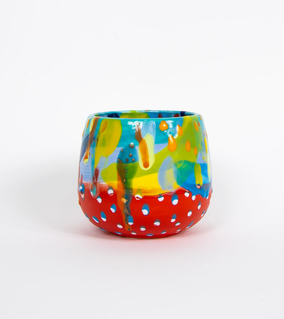 #17 Hand painted small ceramic planter