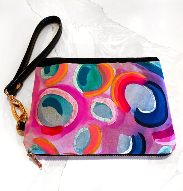 Sweet Tart, on the go silk clutch