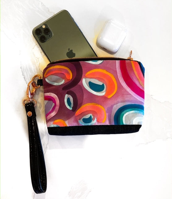 Jelly Bean, on the go silk clutch