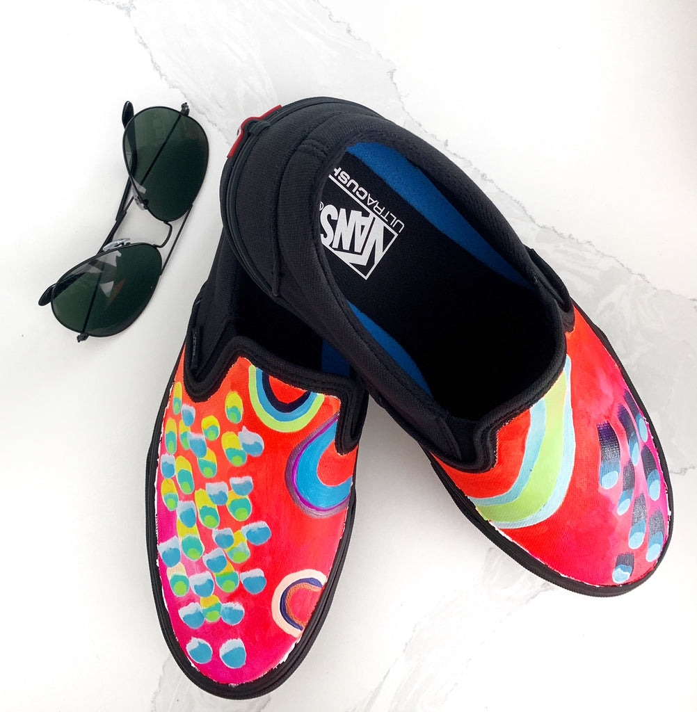 Mens One of a Kind Hand Painted Vans shoes