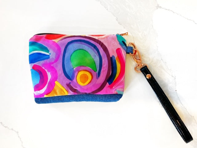 Taffy, on the go silk clutch
