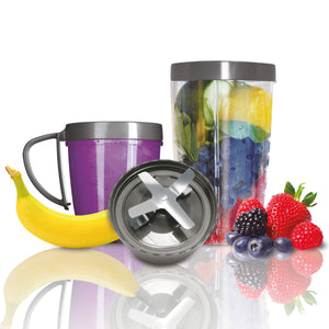 Nutribullet Magic Bullet 600 W Con 8 Accesorios Gris Plata 100391