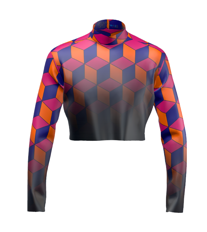 DIGITAL PRINTED UNIFORM - Cubes Uniform Top