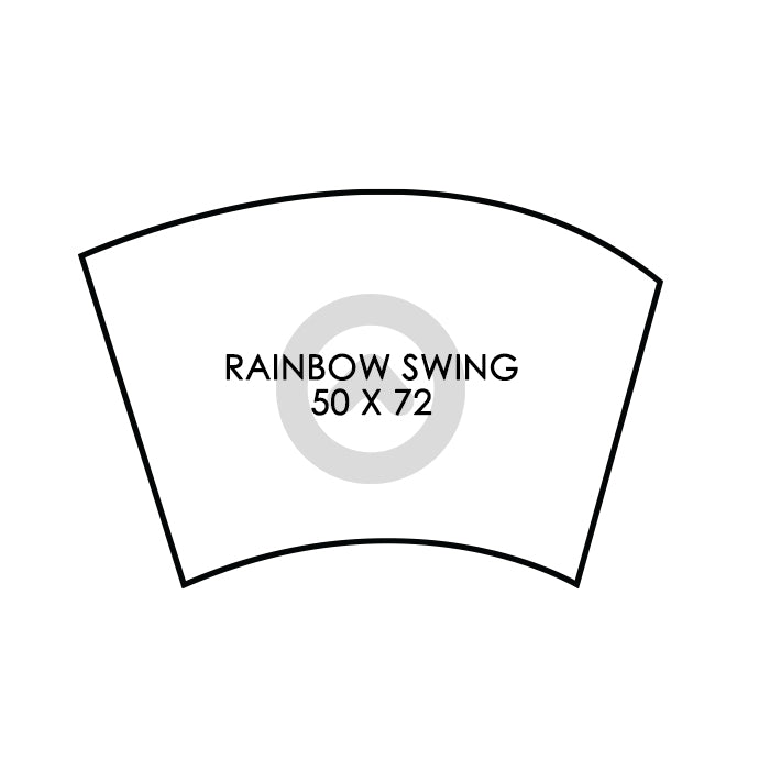 Rainbow Swing Flag - DIGITAL PRINT