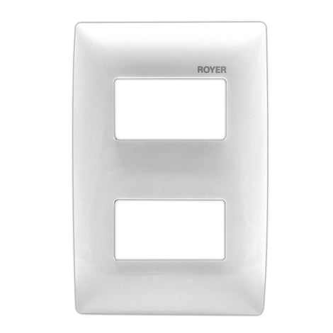PLACA 2 MOD. DISTANCIADOS BLANCO 100-6202W ROYER 100