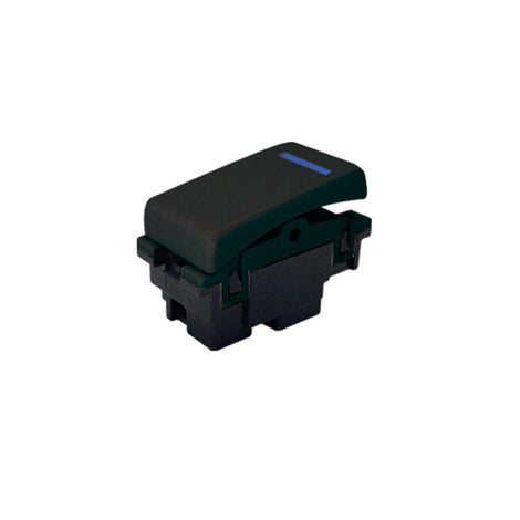 INTERRUPTOR LED SENCILLO 15 A 127V NEGRO