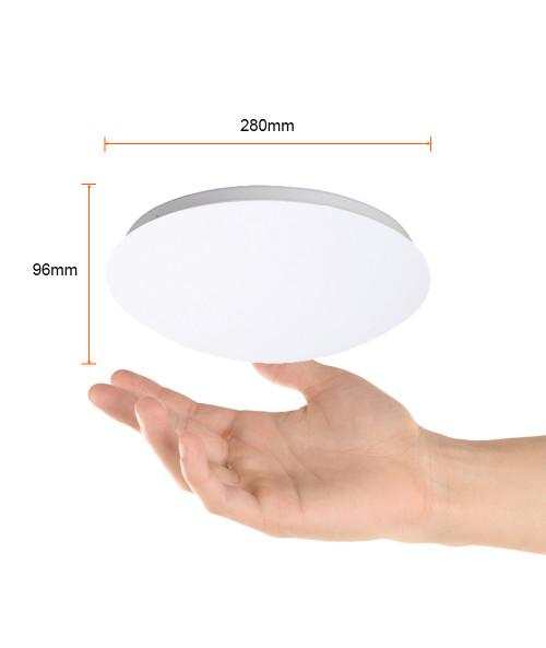 LUMINARIO SOBREPONER TECHO INT. LED 12W/100-240V. PC 6500K. BLANCO 280X96MM. C/SENSOR MOV. SARGAS