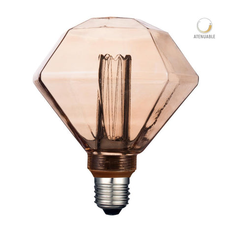 LAMP. LED 3.5W/127V. 60HZ CRISTAL TRANSP. APERLADO 2000K B.C. E27 ATENUABLE DIAMOND