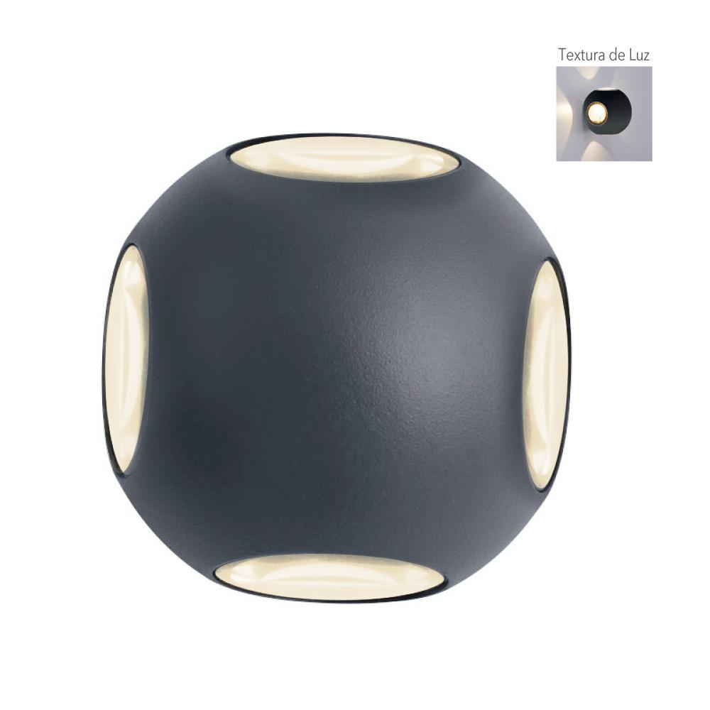 EXTERIOR DECORATIVO MURO LED 4W/100-240V. 3000K VERITATE I