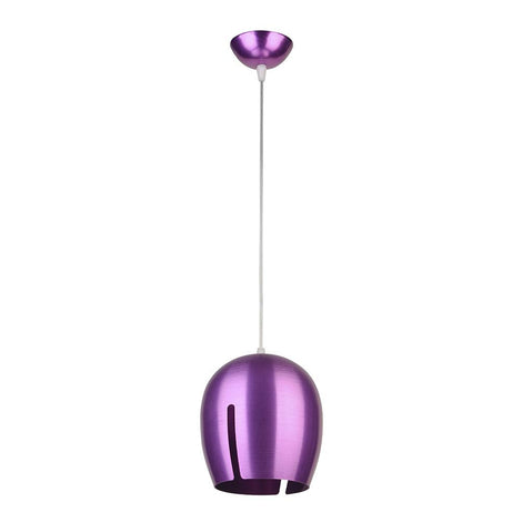 SLP LUMINARIO DE ALUMINIO COLOR PURPURA BASE E26 PARA SUSPENDER MCA PHILCO