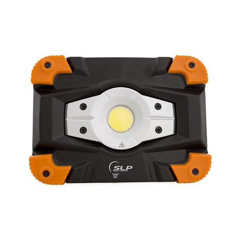 SLP REFLECTOR DE EMERGENCIA DE LED COB 10W RECARGABLE 5V IP54 IK08 6500K CUERPO COLOR NARANJA DE ALUMINIO Y POLICARBONATO HIGH-3hr LOW-6hr MCA PHILCO