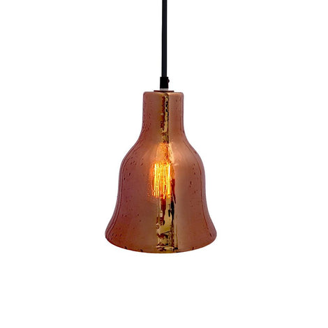 SLP LUMINARIO DECORATIVO PARA SUSPENDER CAMPANA DE CRISTAL COLOR HUMO CAFE E26 DIAMETRO 160*200 MCA PHILCO
