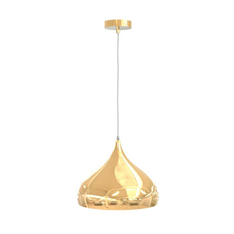 SLP LUMINARIO DECORATIVO PARA SUSPENDER BASE E26 TERMINADO EN METAL COLOR ORO FRANCES MCA PHILCO