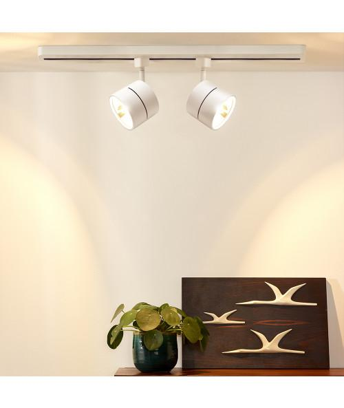 INTERIOR ACENTO SPOT RIEL S/L100-240V. G53 BLANCO AVOIR