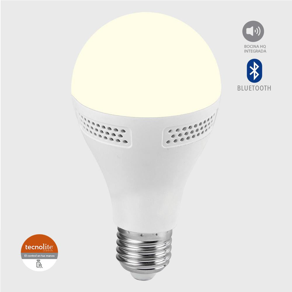 FOCO LED 9W E27 3000K C / BOCINA INTEGRADA