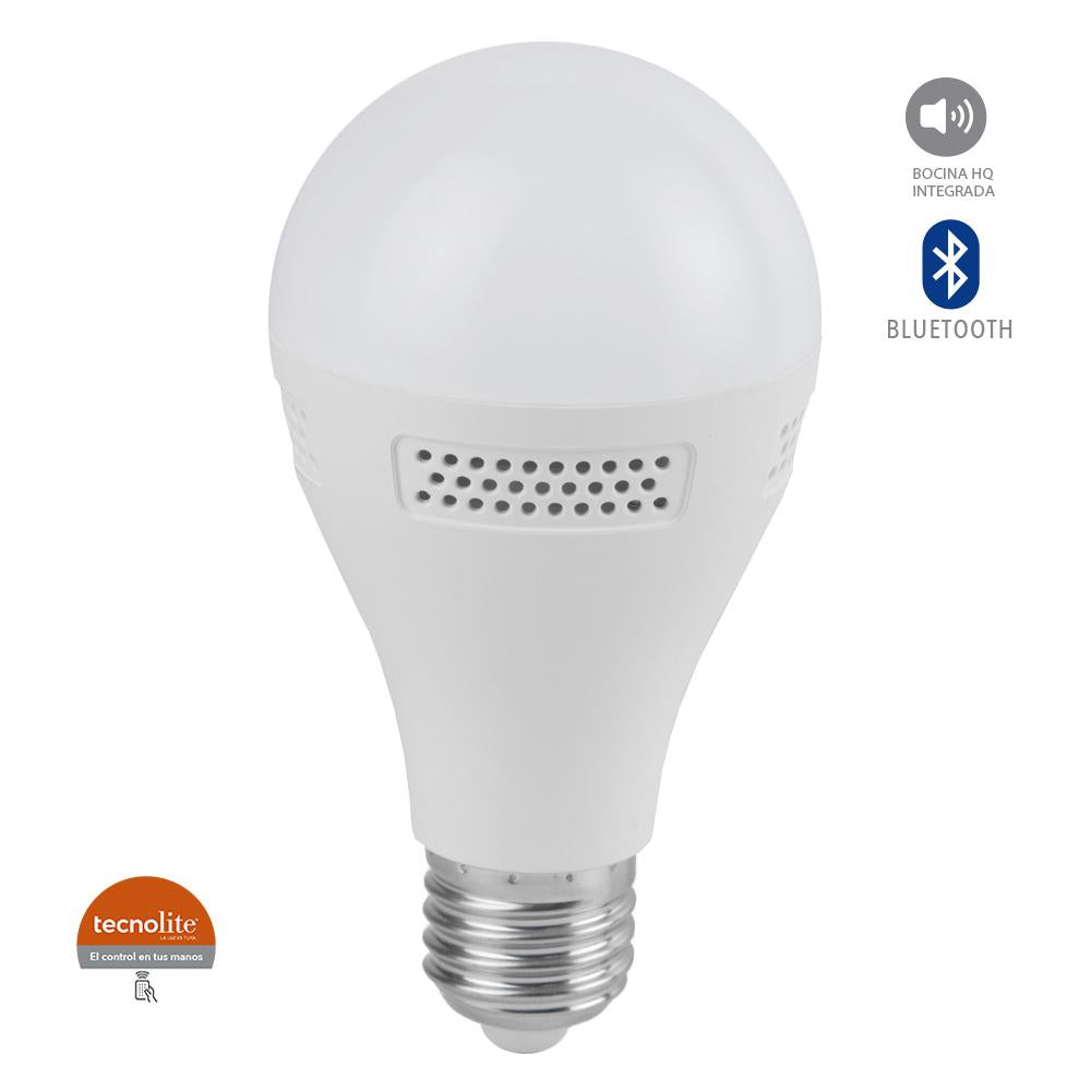 FOCO LED 9W E27 4000K C/ BOCINA INTEGRADA