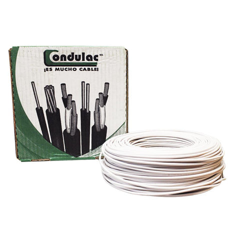 CAJA CABLE THW CAL. 12 BLANCO ANTIFLAMA 782 ECO.