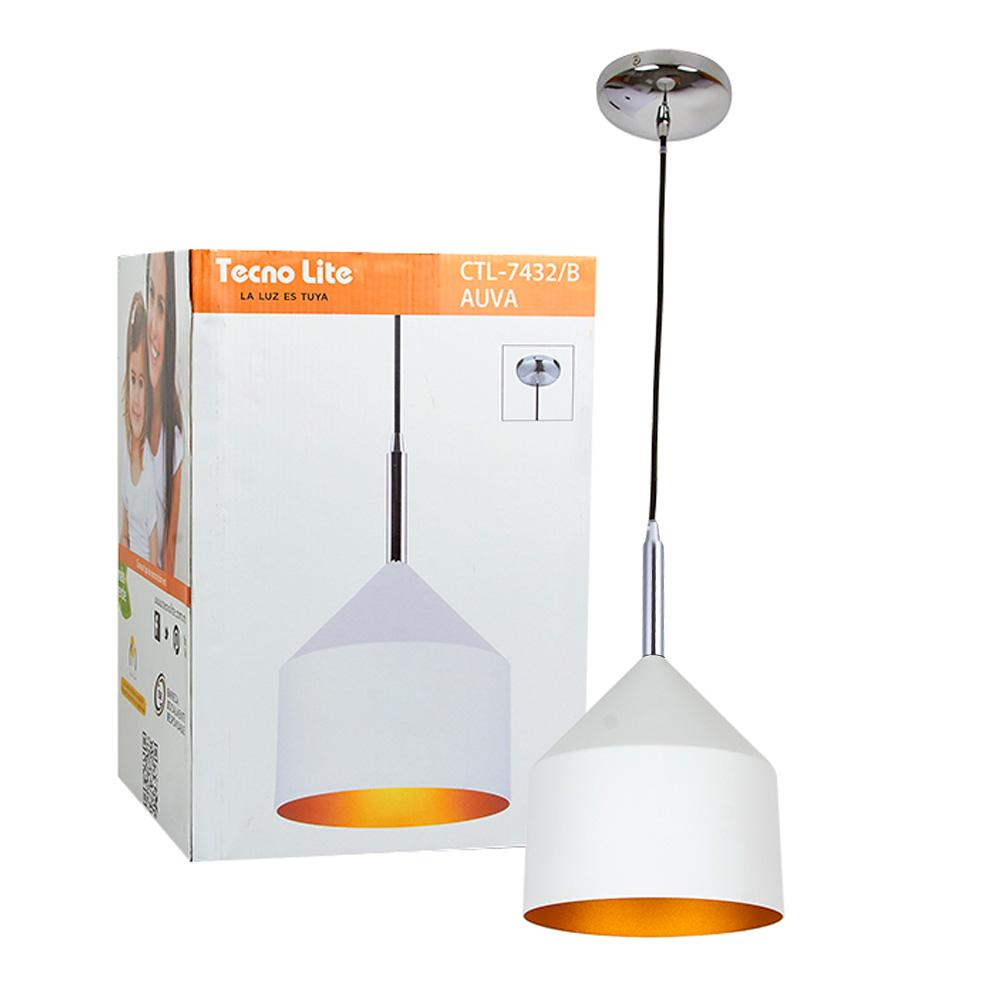 LUMINARIO SUSPENDIDO COLOR BLANCO S/ L100-240V E27 TECNOLITE