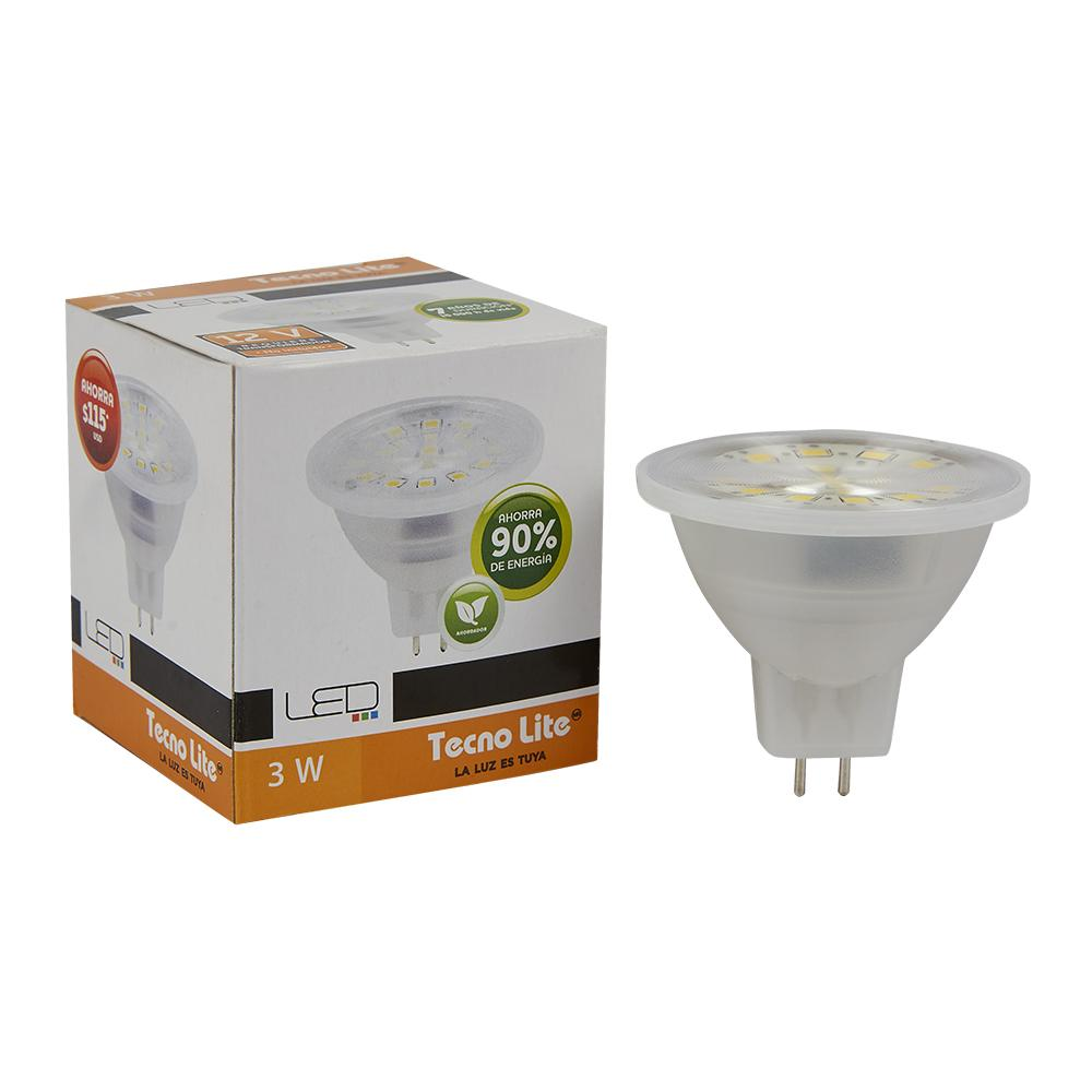 LAMPARA MR16 3W/12V. GX5.3 6500K LED