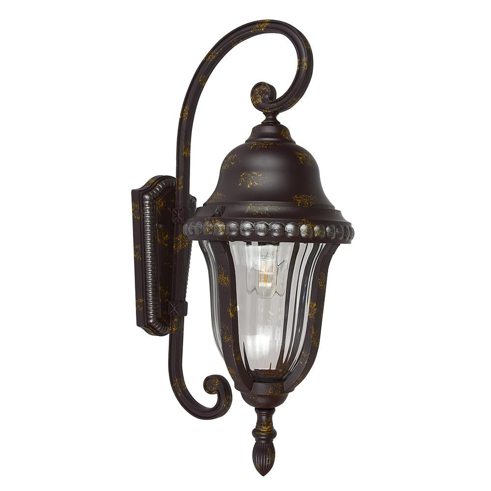 FAROL PARED INVERTIDO MED.100W/127V BRONCE ANTIGUO TECNOLITE