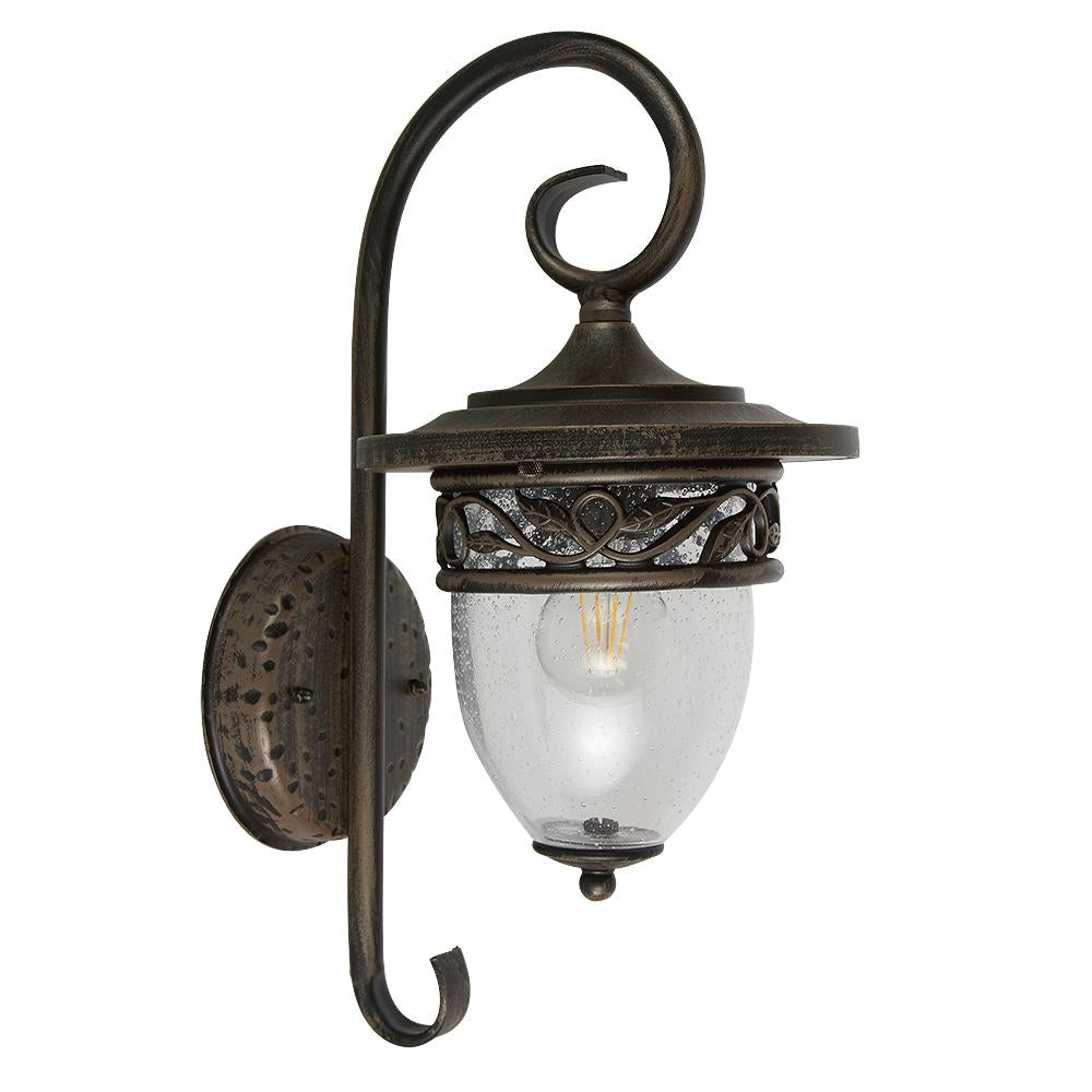 FAROL PARED BRONCE ANTIGUO 100W/127V. RAVENNA