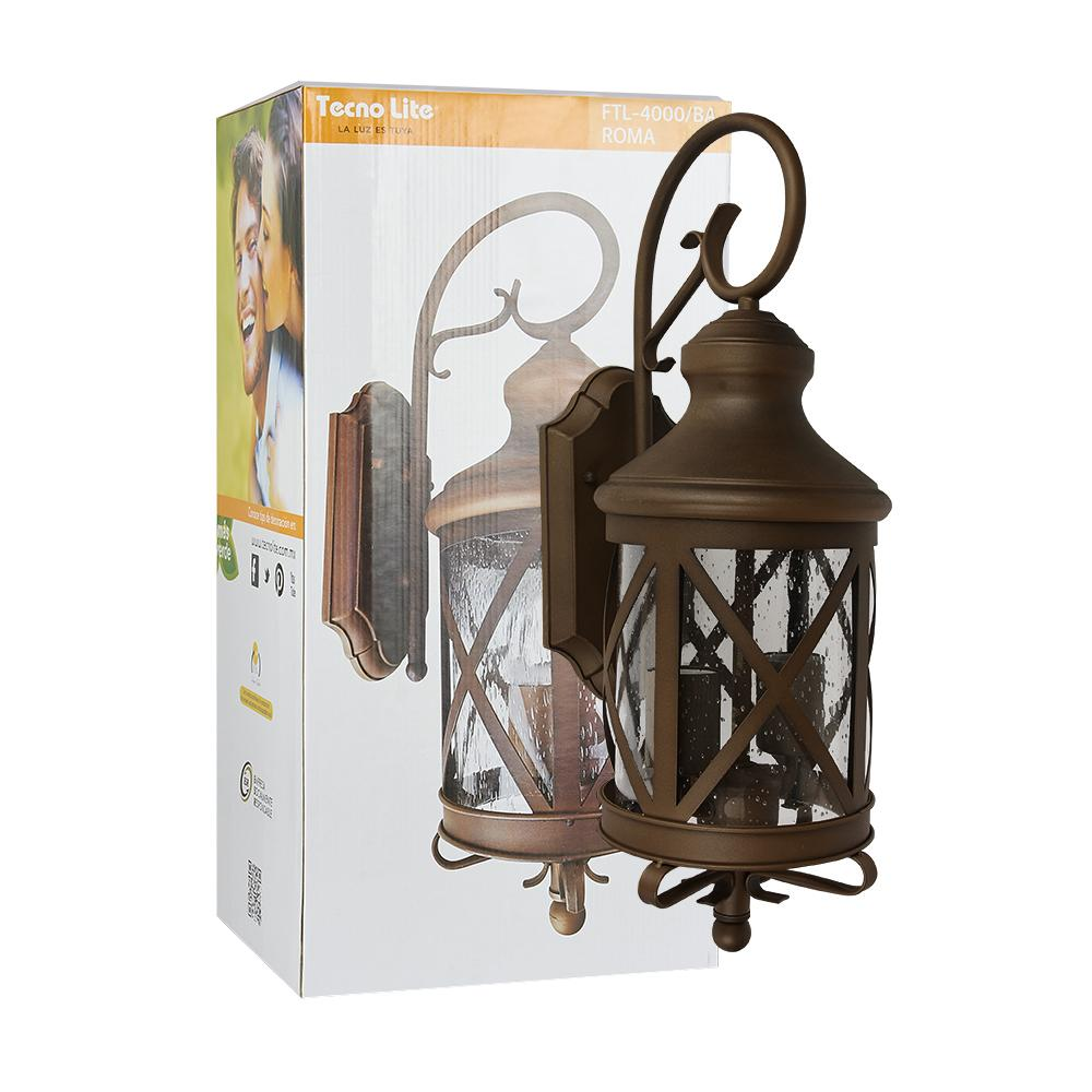 FAROL PARED ANTIGUO SEEDY 100W/127V BRONCE ANTIGUO TECNOLITE