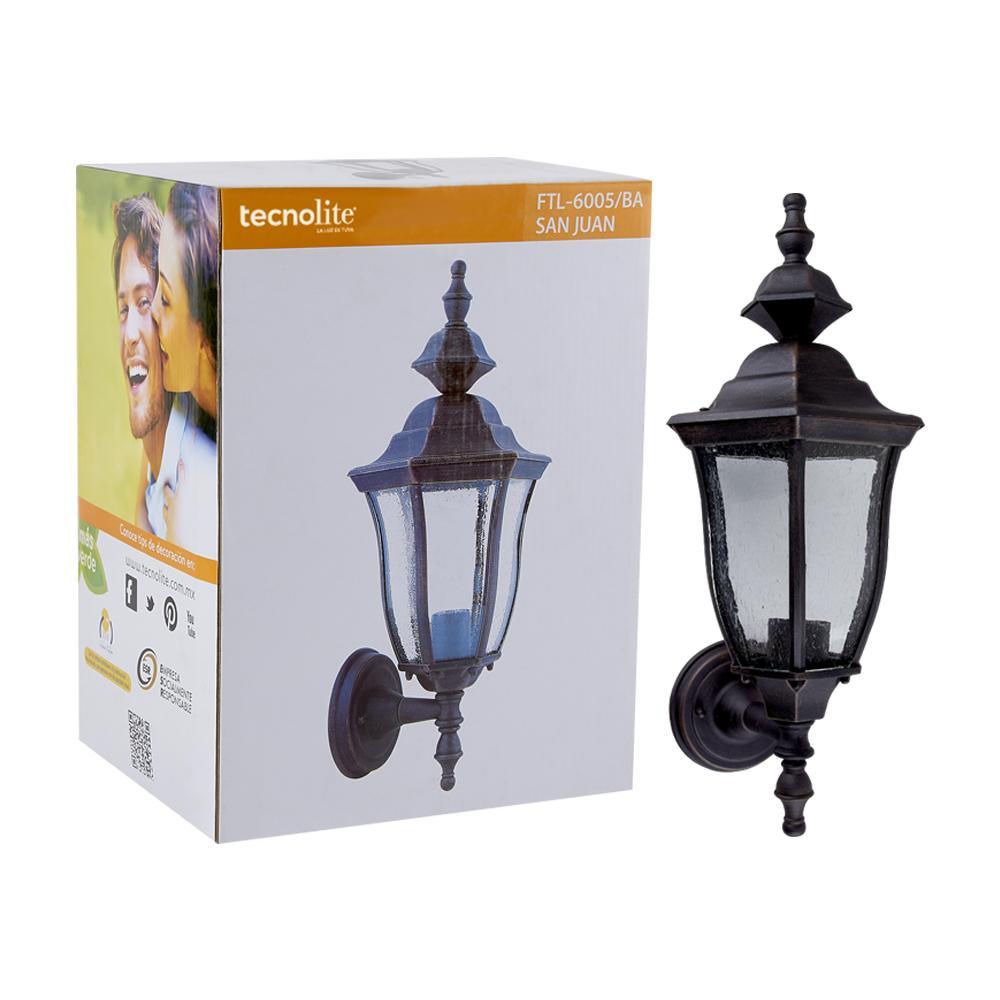 FAROL PARED CRISTAL SEEDY 100W/127V BRONCE ANTIGUO ***HAE 2020***